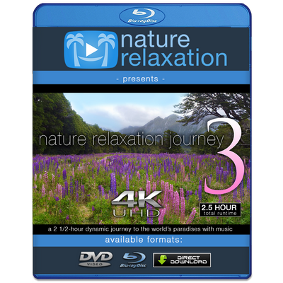 """Nature Relaxation Journey"" Part III 2.5 HR Dynamic Video w Music 4K"