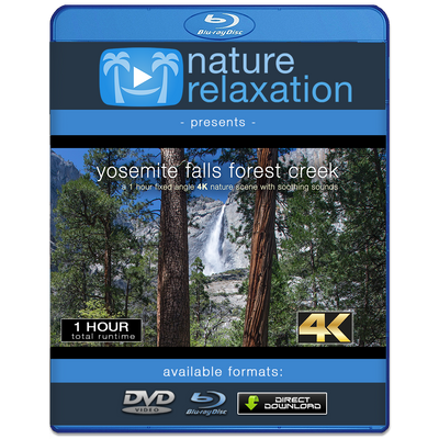 """Yosemite Falls Forest Creek"" 1 HR 4K Static Nature Relaxation Video"