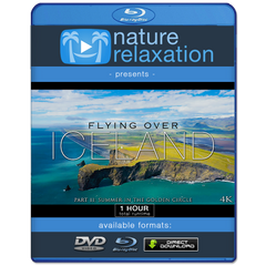 """Flying Over Iceland II"": Summer in Golden Circle 1HR Aerial Film + Music 4K"