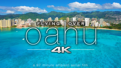 """Flying Over Oahu"" Hawaii 1.5 HR Aerial Film in 4K UHD w/ Music"