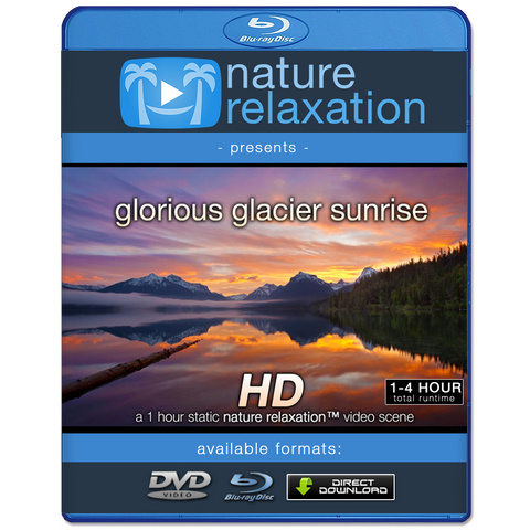 """Glorious Glacier Sunrise"" 1 HR Static Nature Video  HD 1080p"
