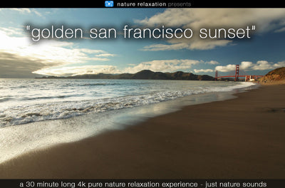 """Golden San Francisco Sunset"" 30 MIN Dynamic Nature Video 4K"