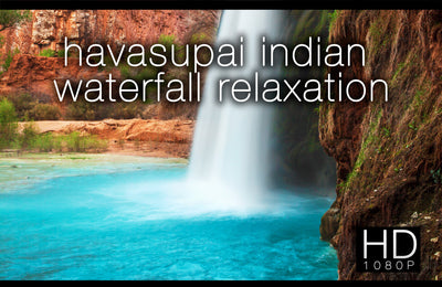 """Havasupai Indian Waterfall Relaxation"" The Classic by David Huting"