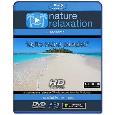 """Idyllic Island Beach"" Tropical Static Nature Video Scene HD"