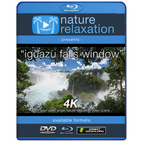 """Iguazu Falls Window"" 1 Hr Static 4K Nature Relaxation Video"