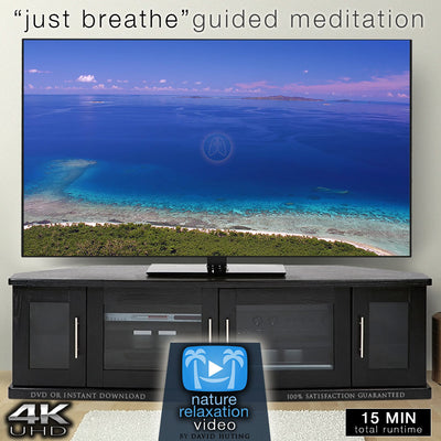"""Just Breathe"" Guided Meditation Video + Breathe Timer & Music in 4K"
