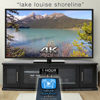 """Lake Louise Shoreline"" 1HR Static Nature Relaxation Video 4K"