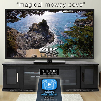 """Magical Mcway Cove"" Looping 4K Nature Relaxation Video from Big Sur, California"