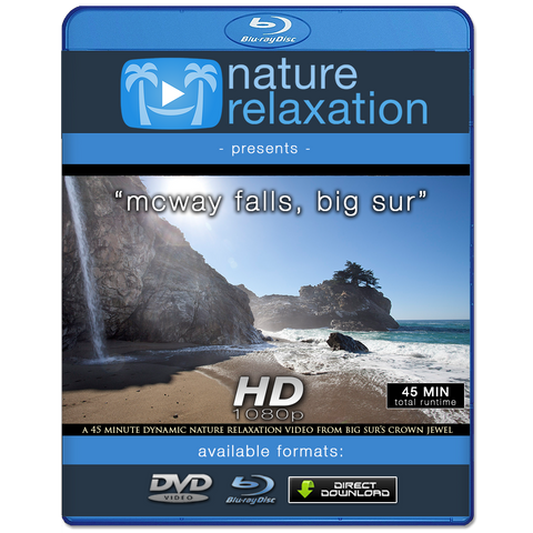 """McWay Falls, Big Sur"" 45 Min Dynamic Nature Video 1080p"