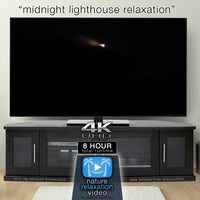"""Midnight Lighthouse"" 8 HR Sleep Enhancing Screen Blackout Video 4K"