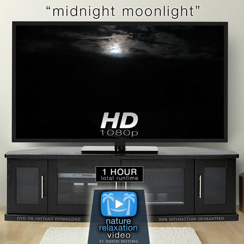 """Midnight Moonlight"" Sleep Aid Screen Black-Out Video Screensaver HD 1080p"