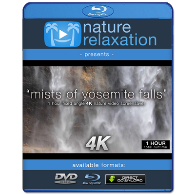 """Mists of Yosemite Falls"" 1 Hour Static 4K Nature Relaxation Video"