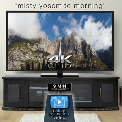 """Misty Yosemite Morning"" 4K UHD 9 Min Dynamic Relaxation Video"