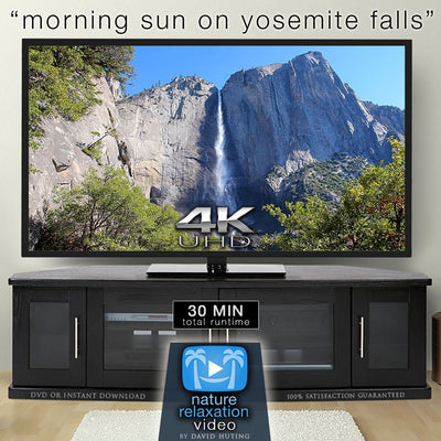 """Morning Sun on Yosemite Falls"" 4K Static Real-Time Video"