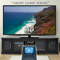 """NaPali Coast Waves"" Kauai 1 HR Still Nature Relaxation Video 1080p HD"