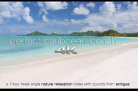 """Perfect Caribbean Beach"" 1 Hour 4K Static Nature Video"