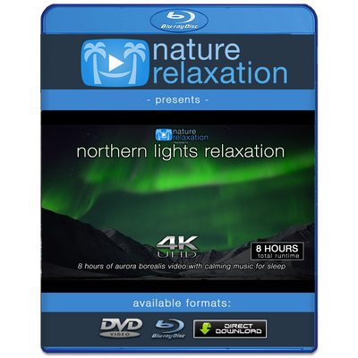 """Northern Lights Relaxation"" 2 or 8HR Aurora Borealis Video 4K UHD"