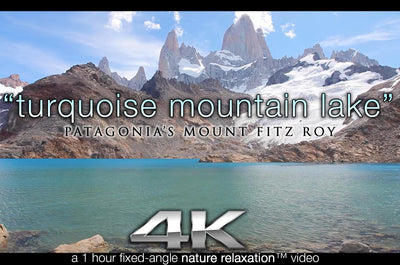 """Turquoise Mountain Lake"" Patagonia 1HR Static Video 4K"