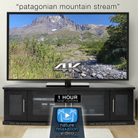 """Patagonian Mountain Stream"" 1 HR  Static Nature Video 4K"