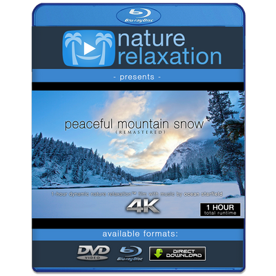 """Peaceful Mountain Snow (Remastered)"" 1 HR Dynamic Nature Film in HD"