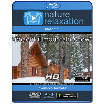 """Peaceful Mountain Snow (Old Version"" 1 HR Dynamic Nature Relaxation Video HD"