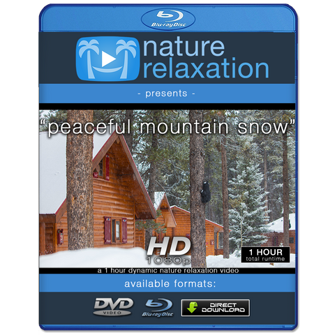 """Peaceful Mountain Snow"" 1 HR Dynamic Nature Relaxation Video HD"