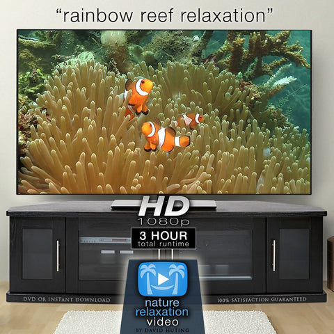 """Rainbow Reef Relaxation"" 3 HR Dynamic Underwater Film w/ Music HD"