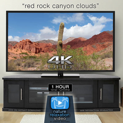 """Red Rock Canyon Clouds"" 1 HR Fixed-Angle Nature Video 4K"