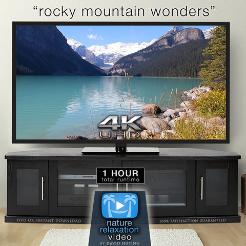 """Rocky Mountain Wonders"" 1 HR Dynamic 4K UHD Nature Video"
