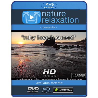 """Ruby Beach Sunset"" Looping Nature Relaxation Video Screensaver HD 1080p"