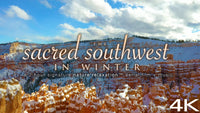 """The Sacred Southwest in Winter"" 2 HR Dynamic Drone Video + Music 4K"