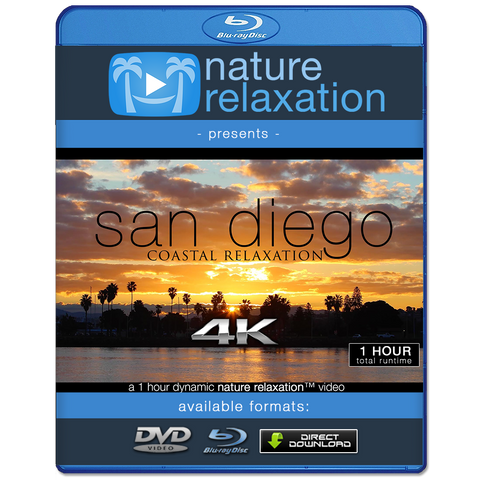 """San Diego Coastal Relaxation"" 1 HR Dynamic 4K Nature Video"