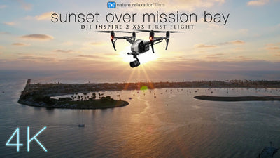 """Sunset Over Mission Bay"" 8 Min 4K Aerial Nature Video w/ Music"