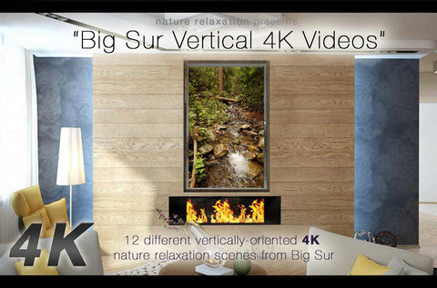 """Big Sur in 4K"" 8 Spectacular Vertical-Oriented 4K Nature Scenes - Bundle"