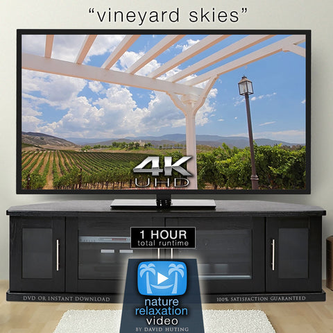 """Vineyard Skies"" 1 HR Static 4K Nature Relaxation Video"