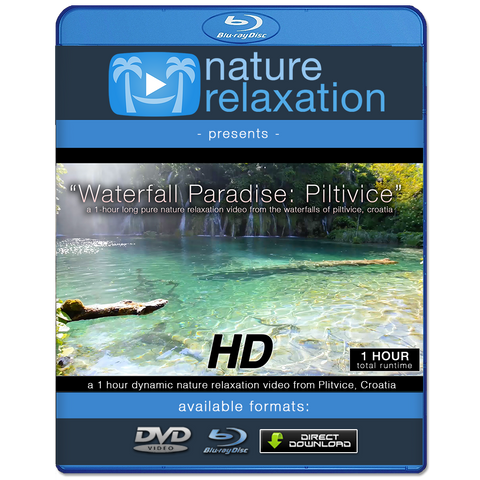 """Waterfall Paradise: Piltivice"" HD Nature Relaxation Video 1 Hour 1080p"