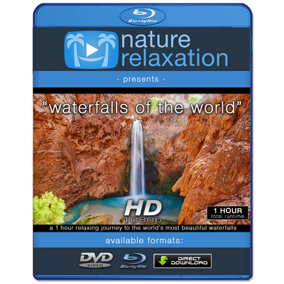 """Waterfalls of the World"" HD Nature Relaxation Video 1 Hour 1080p"