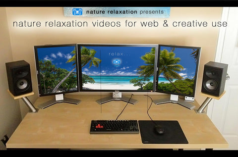 Nature Relaxation Licenses for Website, Tradeshow, Social Media, Film, & Creative Use