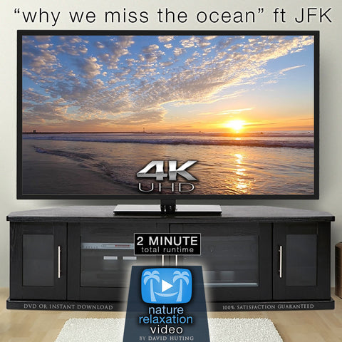 """Why We Miss the Ocean"" ft. J.F.K  2 Minute Relaxing 4K Music Video"