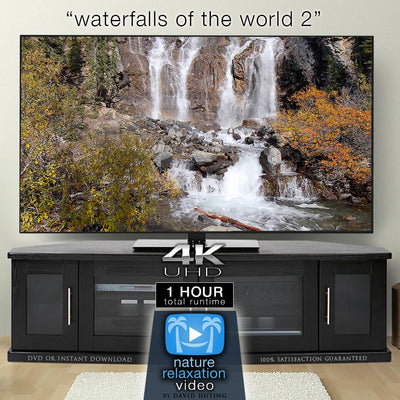 """Waterfalls of the World 2"" 4K Dynamic 1-Hour Nature Relaxation Film"