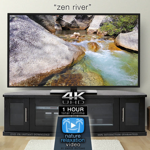 """Zen River"" 1 Hour Static Nature Video / Screensaver 4K"