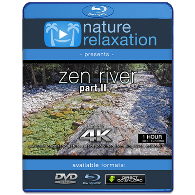 """Zen River II"" 1 Hour Static Nature Video / Screensaver 4K"