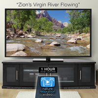 """Zion's Virgin River Flowing"" 1 HR  Static Nature Video 4K"