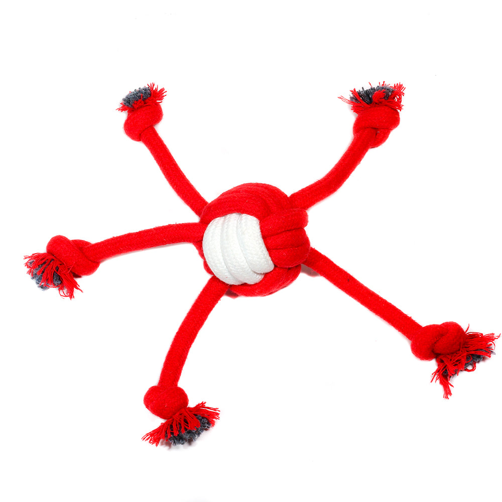 Poochles Knotted Ball With Five Hands - Poochles