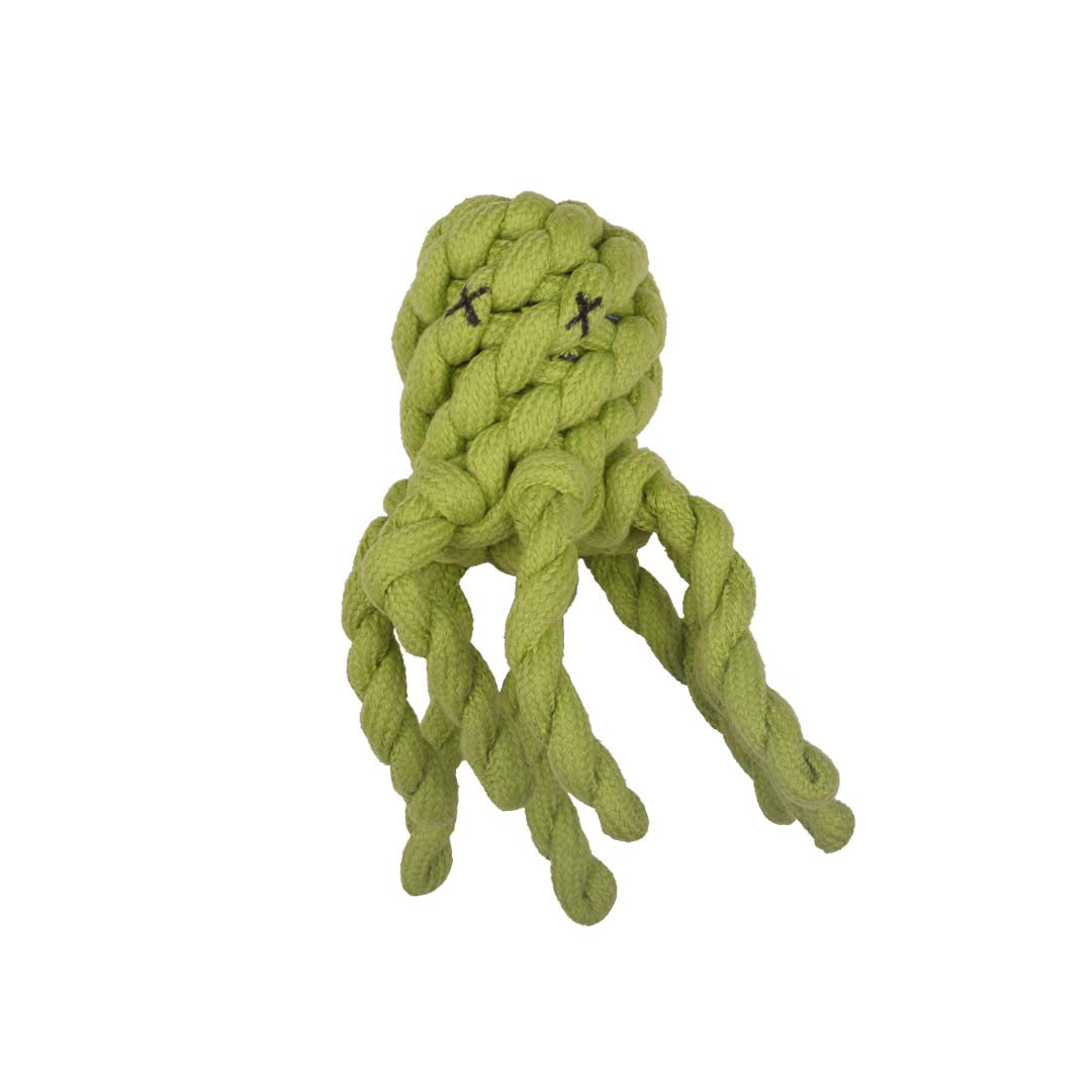 Poochles Braided Repurposed Octopus Shaped Rope Dog Toy-Dog Toys-Poochles-Red-Poochles India