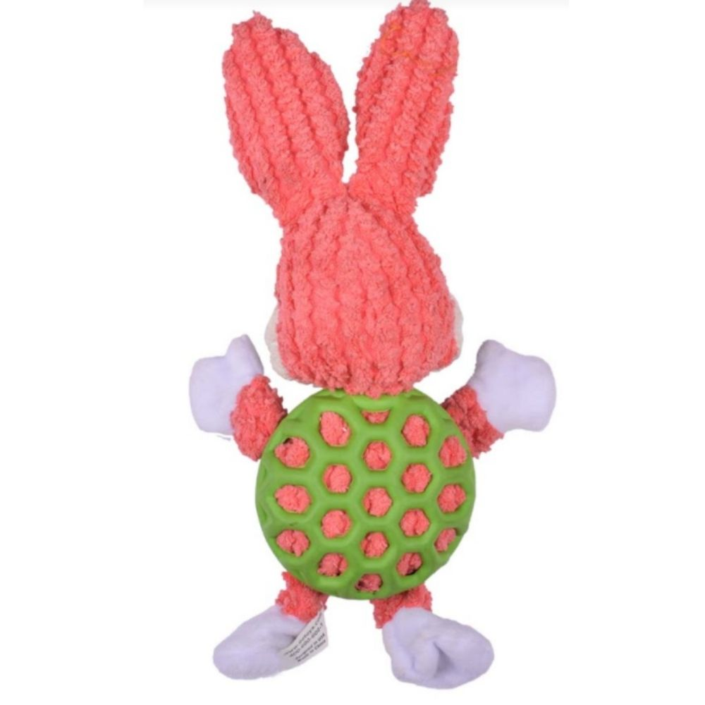 EE Toys Rubber N Plush Rabbit Dog Toy-Dog Toys-EE Toys-Small-Poochles India