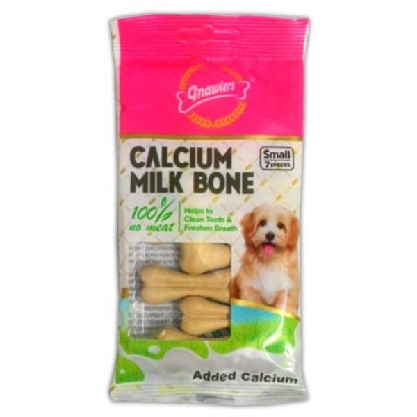 Gnawlers Calcium Milk Bones Dog Chew Treat-Treats-Gnawlers-7pcs-Poochles India