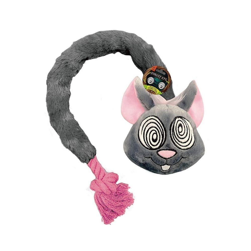 Bark Butler Fofos Forest Eye Mouse Rope Dog Toy-Dog Toys-Bark Butler-Small-Poochles India