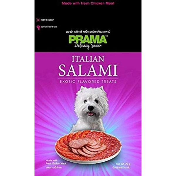 Prama Salami Flavored Dog Chew Treat-70gms-Treats-Pet Vet-Poochles India