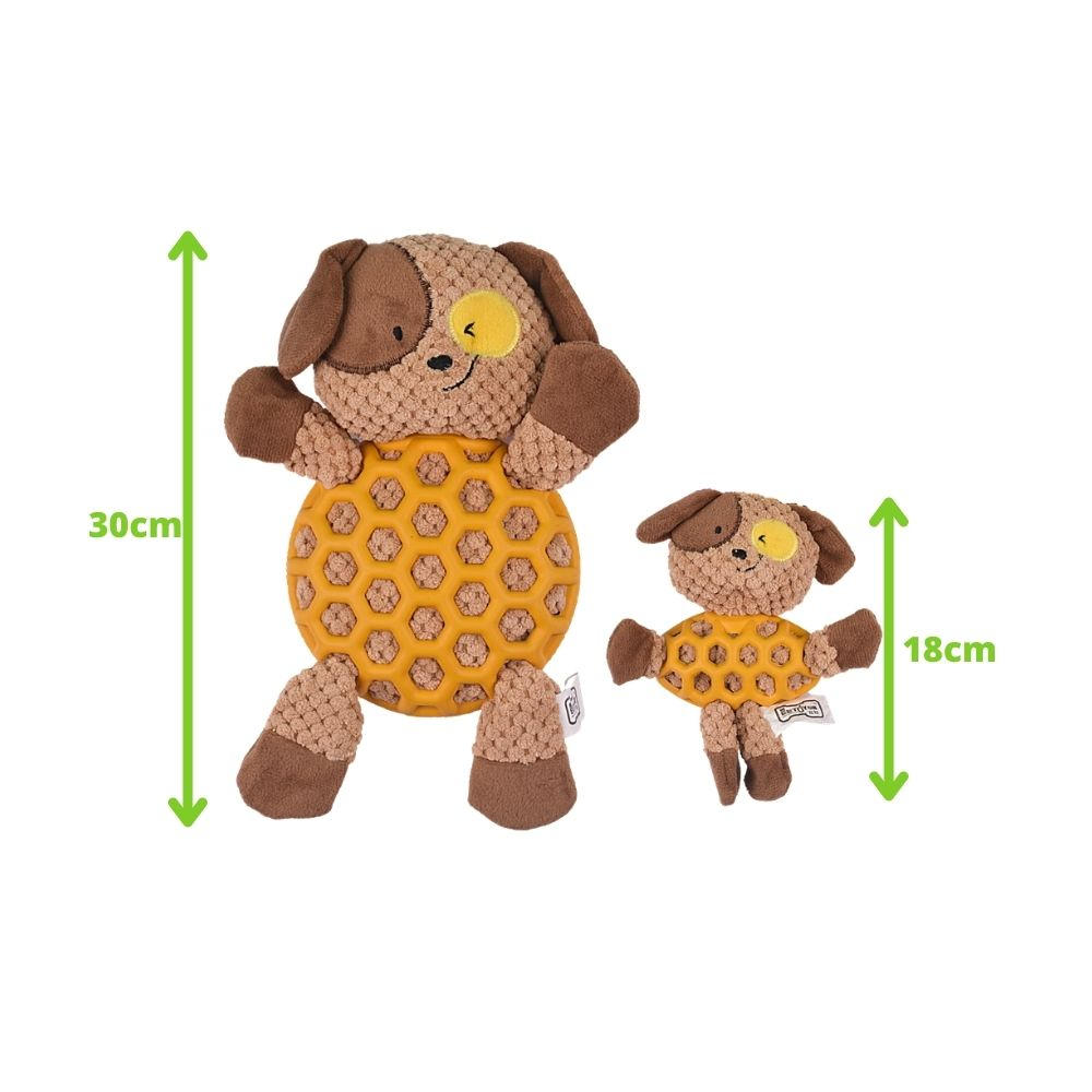 EE Toys Rubber N Plush Dog Toy-Dog Toys-Euro Pet-Small-Poochles India